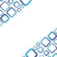 Vit bakgrund med blå fyrkantig vektor
