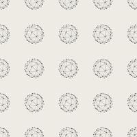 Seamless pattern background. Modern abstract and Classical antique concept. Geometric creative design stylish theme. Illustration vector. Black and white color. Technology connection line circle shape vector