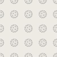Sfondo modello senza soluzione di continuità. Concetto astratto moderno e classico antico. Tema elegante design geometrico creativo. Illustrazione vettoriale. Colore bianco e nero Forma del cerchio della linea di connessione della tecnologia