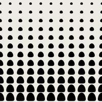 Nahtlose Muster Hintergrund. Modernes abstraktes und klassisches antikes Konzept. Stilvolles Thema des geometrischen kreativen Designs. Abbildung Vektor. Schwarzweiss-Farbe. Halbtonform mit kreisförmigen Punkten