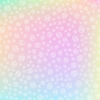 Teste padrão sem emenda dos ovos da páscoa no fundo colorido da fantasia. Conceito de férias e eventos. Ilustração vetorial