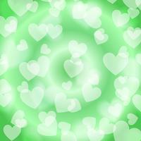 Grön hjärta Bokeh, mönster, vektor