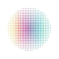 Rainbow Circular dot line. Abstract and Colorful concept. Half tone Illustration vector