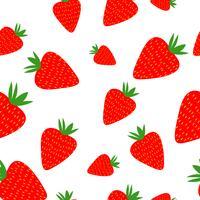 Aardbeien naadloos patroon op de witte achtergrond