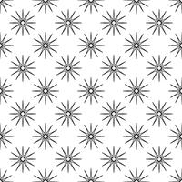 Seamless pattern background. Abstract and Classical concept. Geometric creative design stylish theme. Illustration vector. Black and white color. Snowflake ice and Glitter star shape for Christmas day vector