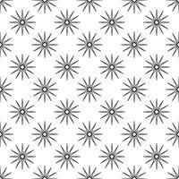 Patrón de fondo sin fisuras Concepto abstracto y clásico. Tema elegante diseño creativo geométrico. Ilustración vectorial Color blanco y negro. Copo de nieve con forma de estrella de hielo y escarcha para el día de Navidad