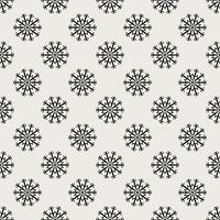 Seamless pattern background. Abstract and Classical concept. Geometric creative design stylish theme. Illustration vector. Black and white color. Snowflake ice for Christmas day