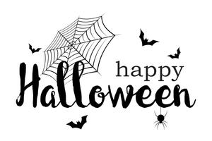Happy Halloween banner. Invitation letter and Message concept. Holiday and Ghost theme. Vector illustration.