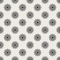 Seamless pattern background. Modern abstract and Classical antique concept. Geometric creative design stylish theme. Illustration vector. Black and white color. Floral and Flower shape