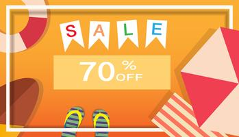 Tropische en zomertijd verkoop banner achtergrond