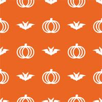 Seamless cute pumpkin in Halloween day on isolated orange background. Holiday and Culture concept. Wallpaper and line icons theme.
