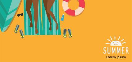 Tropische en zomertijd achtergrond