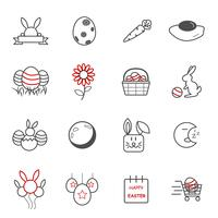 Easter day icons. Holiday and Event concept. Illustration vector collection set. Sign and Symbol theme.