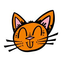 Cute Happy Friendly Cartoon Cat