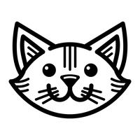 Cute Happy Friendly Cartoon Cat vector