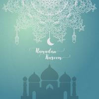Ramadan Kareem tarjeta de felicitación islámica