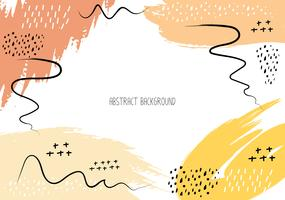 Cartes créatives artistiques avec des coups de pinceau, fond de trait de brosse abstraite, illustration vectorielle.