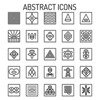Abstracte lijnpictogrammen