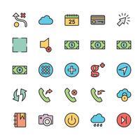 25 Basic UI Icon vector