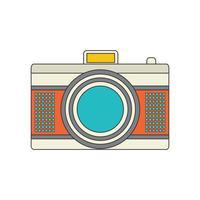 Icône de caméra pour votre projet en couleur rétro