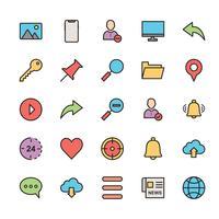25 ícone da interface do usuário básica vetor