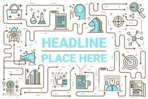 Linea di marketing icone illustrazione