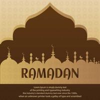 Ilustração de Ramadã para o seu projeto