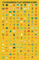 Icone di design piatto di affari