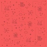 Fundo de ícones de linha de ciência