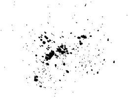 Acuarela negra abstracta del chapoteo de la tinta, textura del espray de la acuarela del chapoteo aislada en el fondo blanco. Ilustracion vectorial