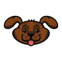Cute friendly cartoon dog