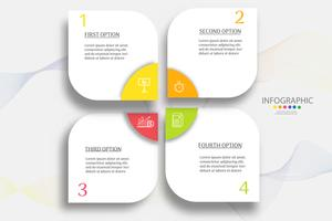 Design Business template 4 steps infographic chart element with place date for presentations,Vector EPS10.