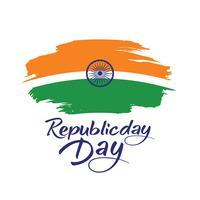 Indische republik tag konzept
