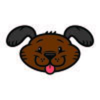 Perro de dibujos animados amable lindo