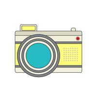 Icono de cámara para tu proyecto en color retro.
