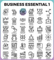 Business Essential icons vector