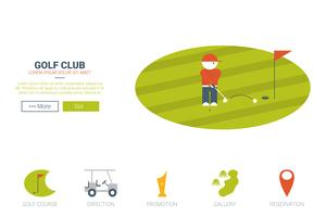 Concepto de sitio web de club de golf