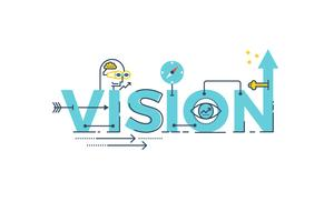 Lettrage du mot vision