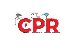 Illustration de conception de mot CPR