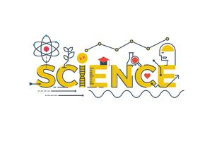 Science word illustration