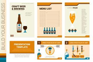 Modèle de présentation et de couverture de livre de bière artisanale