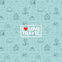 Travel seamless background