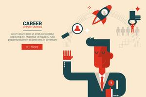 Career growth concept