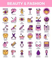 Beauty and fashion Icons vector