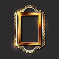 Dekorativa vintage guldramar och gränsar