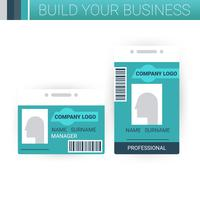 Business badge template design