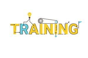 Training woord belettering ontwerp