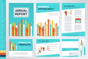 Hand raising book cover and presentation template
