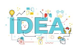 Palabra idea creativa
