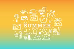 Summer travel icon concept illustration